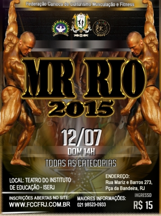 cartaz mr rio 2015